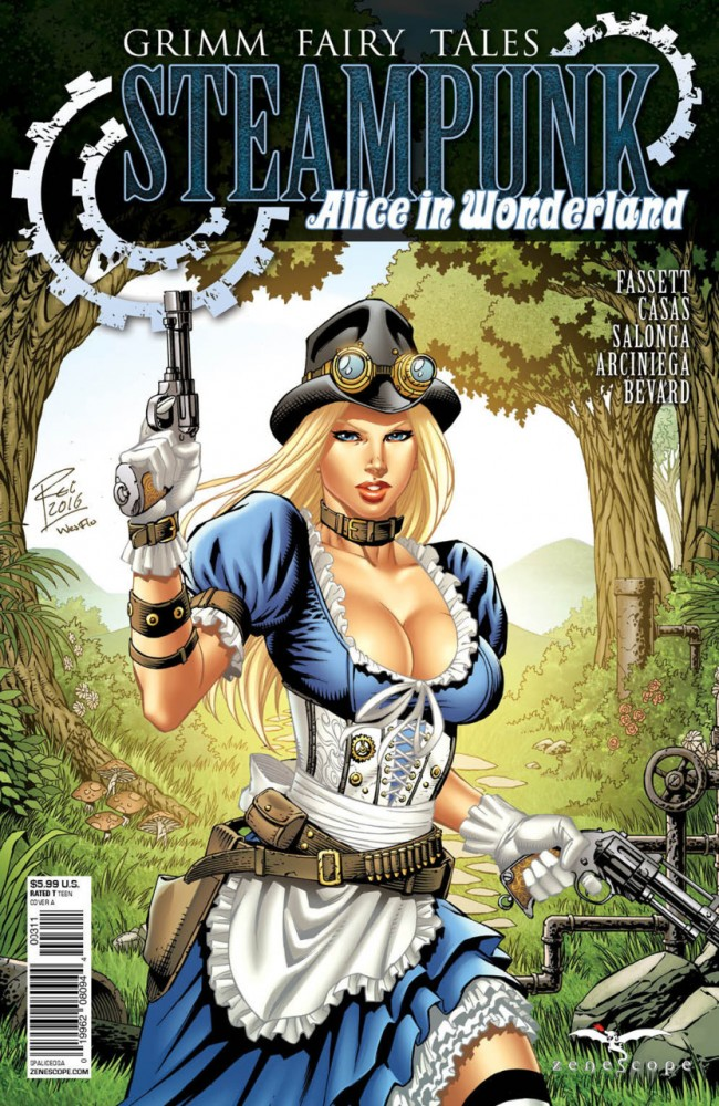 Grimm Fairy Tales Steampunk Alice In Wonderland #1