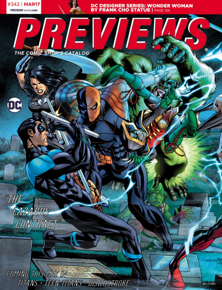 Previews 342 (March 2017 for May 2017)