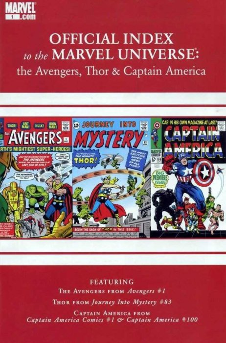 Avengers, Thor & Captain America - Official Index to the Marvel