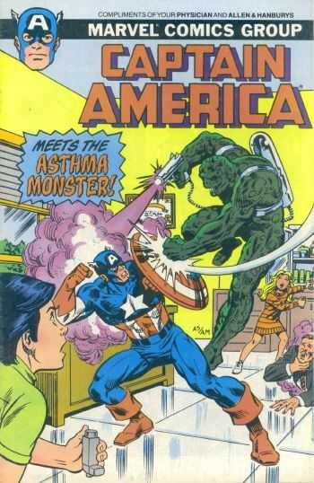Captain America Meets the Asthma Monster!