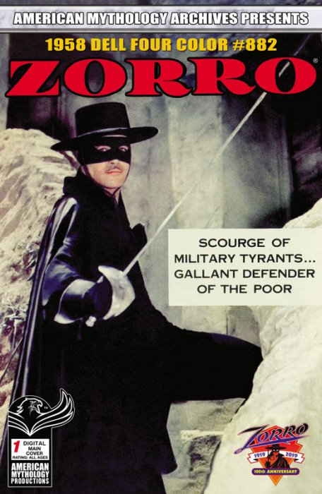 American Mythology Archives presents Zorro Dell Four Color #882