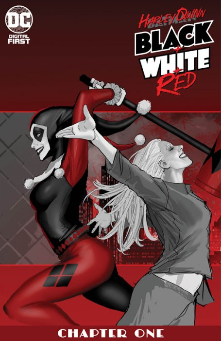 Harley Quinn Black + White + Red #1