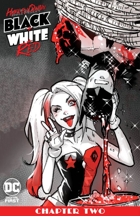 Harley Quinn Black + White + Red #2