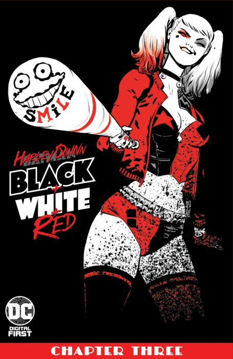 Harley Quinn Black + White + Red #3