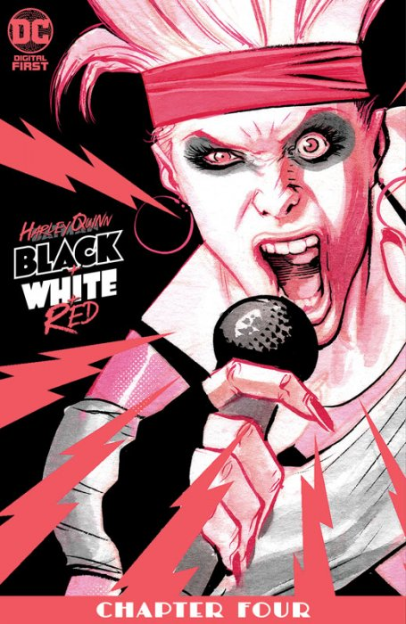 Harley Quinn Black + White + Red #4