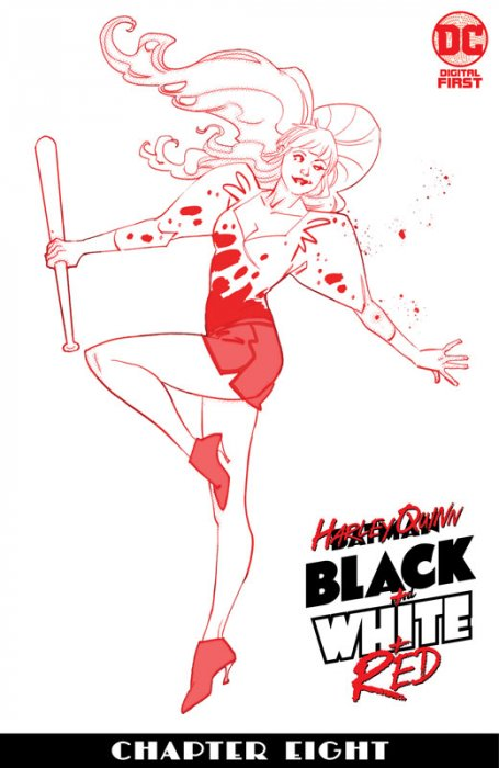 Harley Quinn Black + White + Red #8