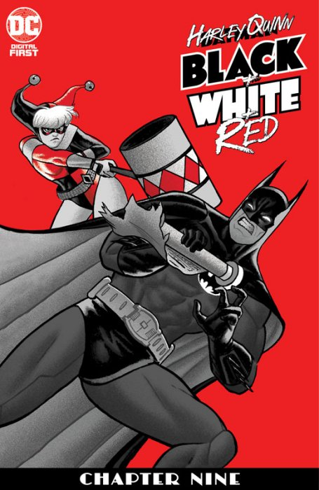 Harley Quinn Black + White + Red #9