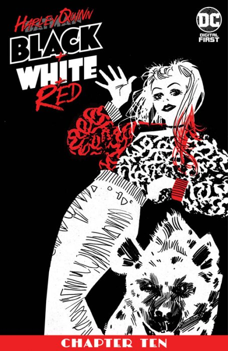 Harley Quinn Black + White + Red #10