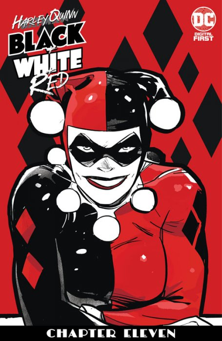 Harley Quinn Black + White + Red #11