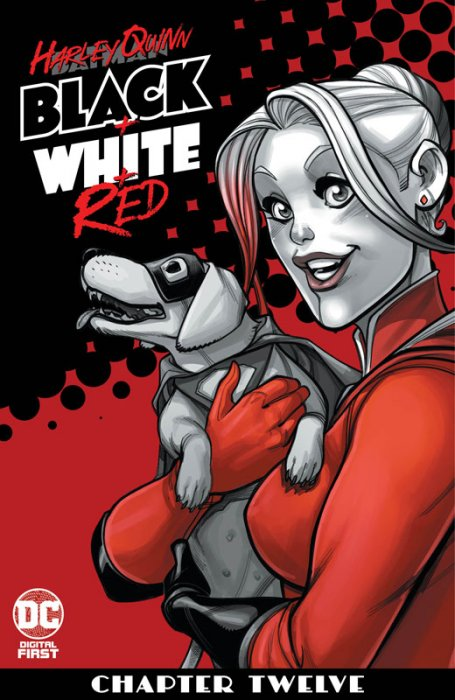 Harley Quinn Black + White + Red #12