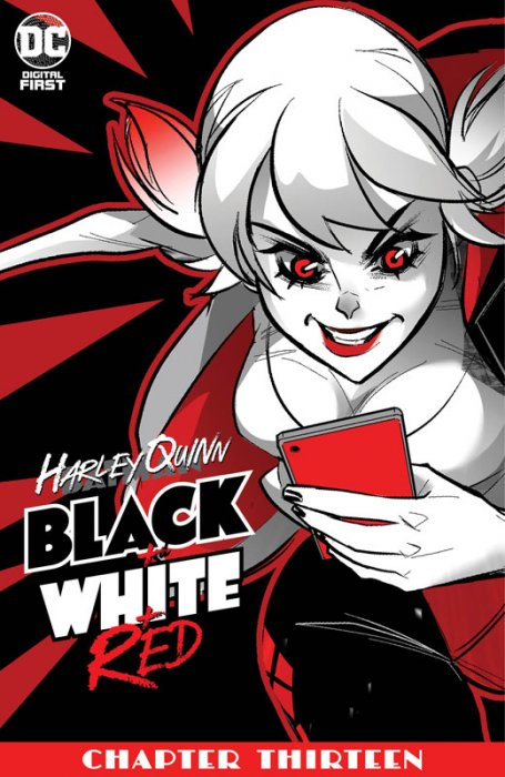 Harley Quinn Black + White + Red #13