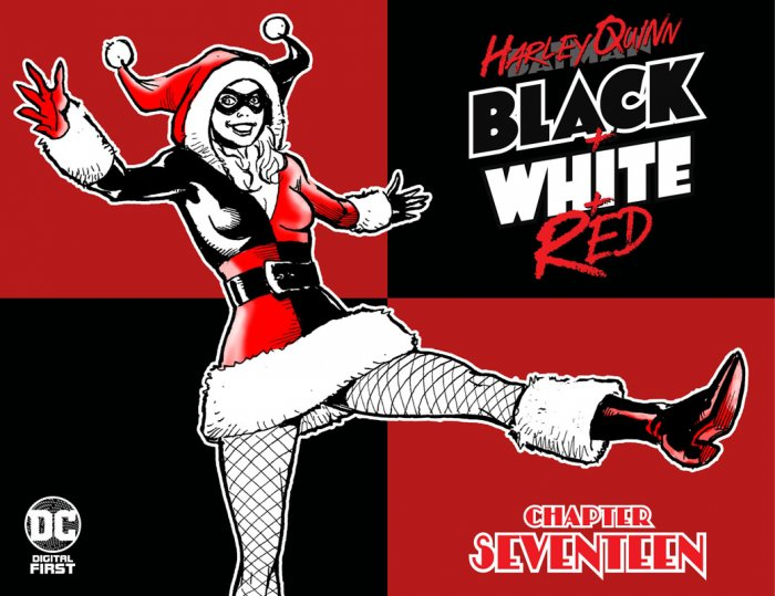 Harley Quinn Black + White + Red #17