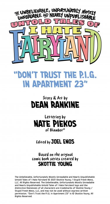 Untold Tales of I Hate Fairyland #1